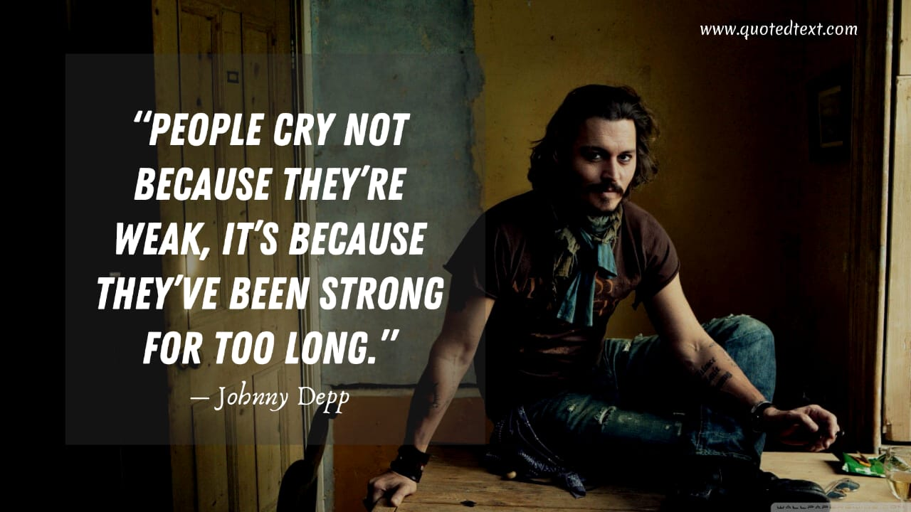 Johnny Depp quotes on crying