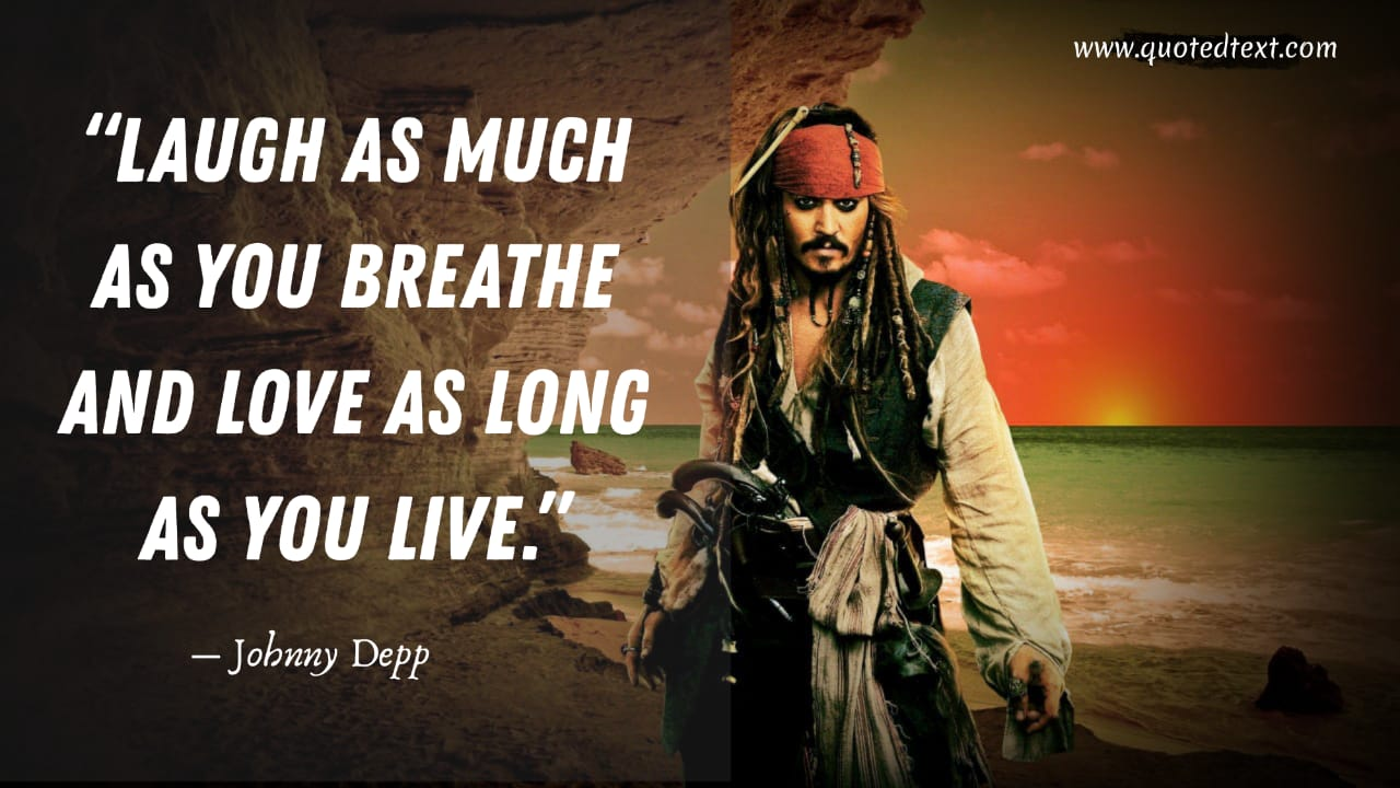 Johnny Depp quotes on laughing