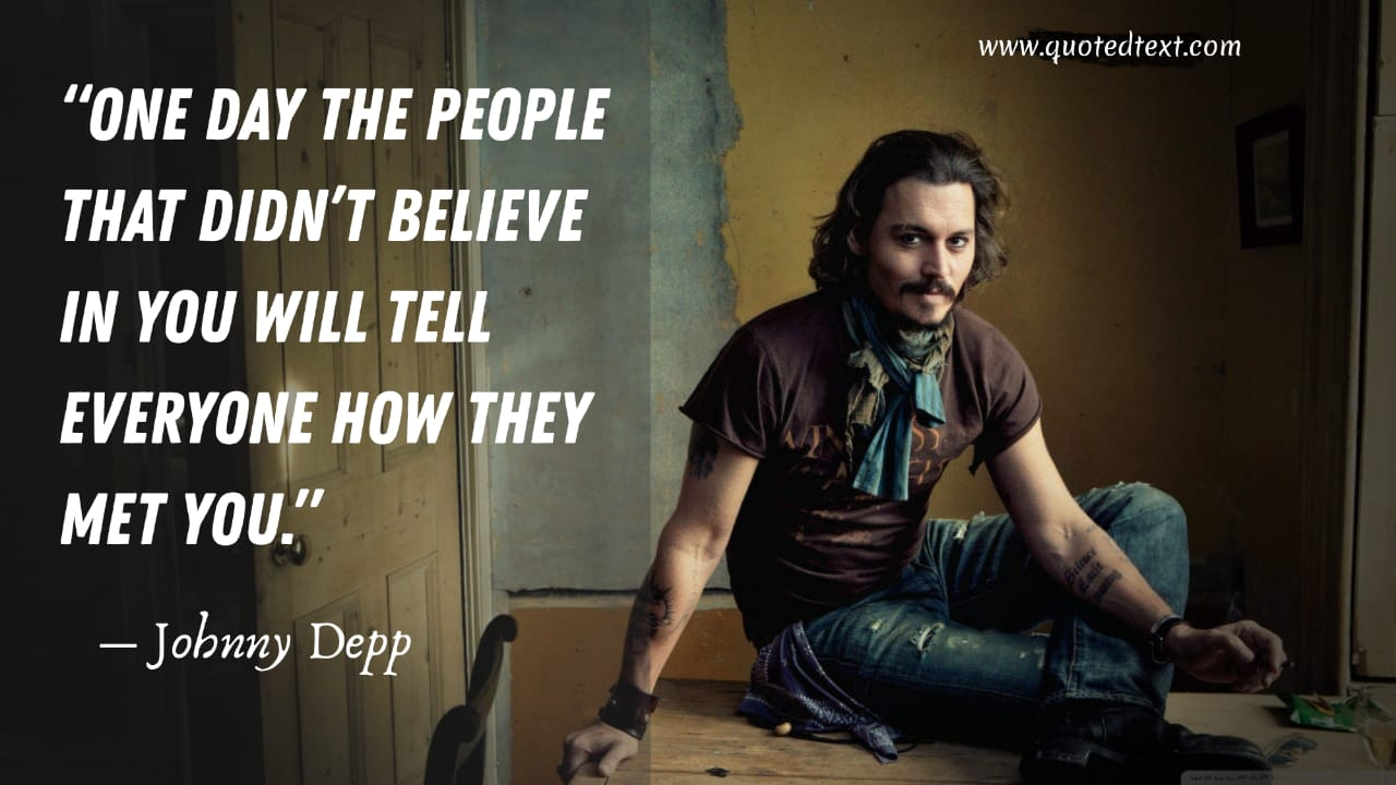 Johnny Depp quotes inspirational quotes