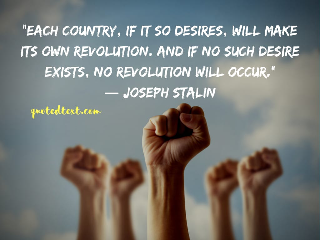 Joseph Stalin quotes on revolution