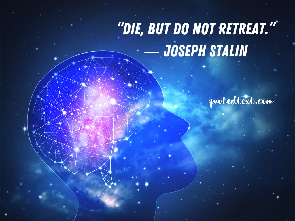 Joseph Stalin quotes on dying