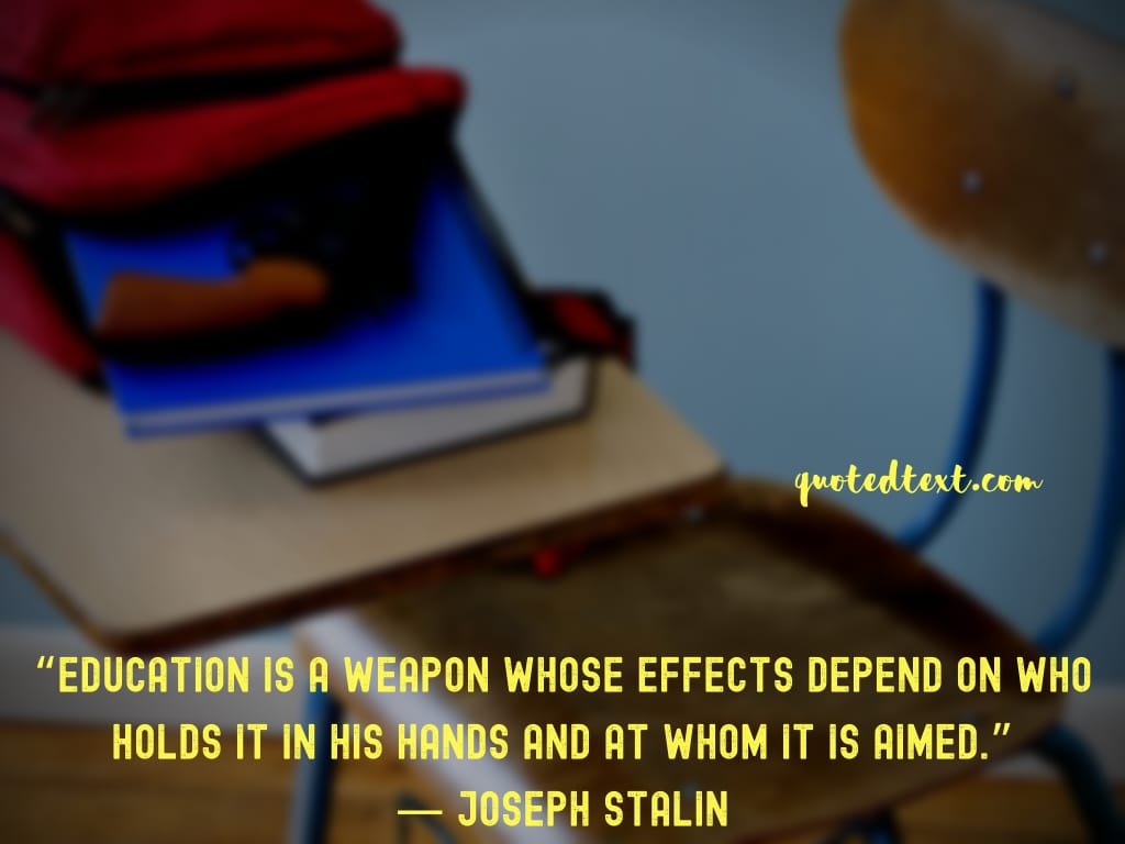 Joseph Stalin quotes on education