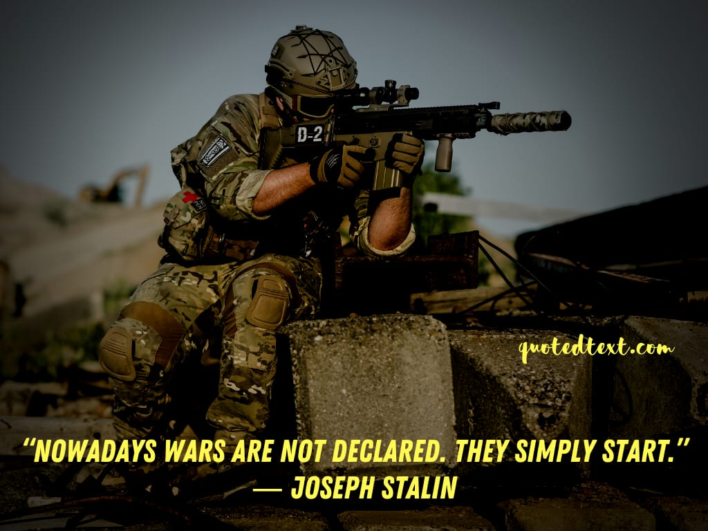 Joseph Stalin quotes on war