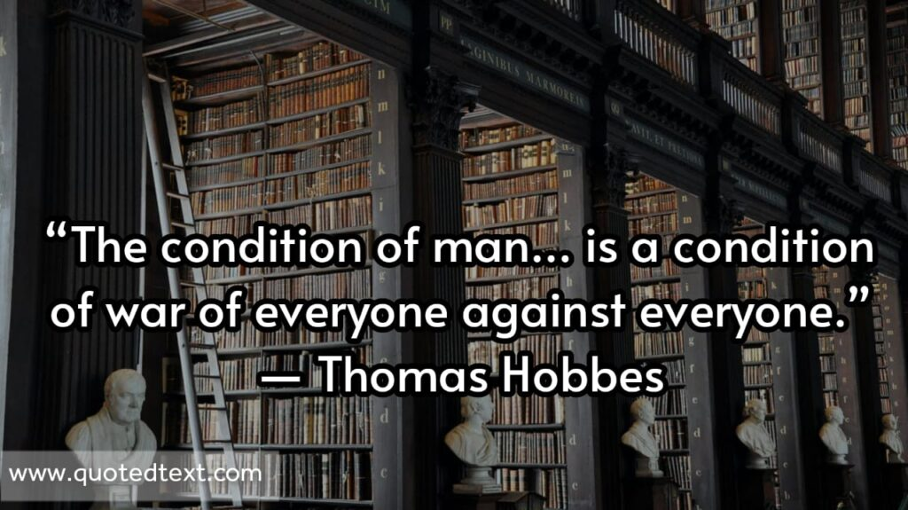 Thomas Hobbes quotes on man