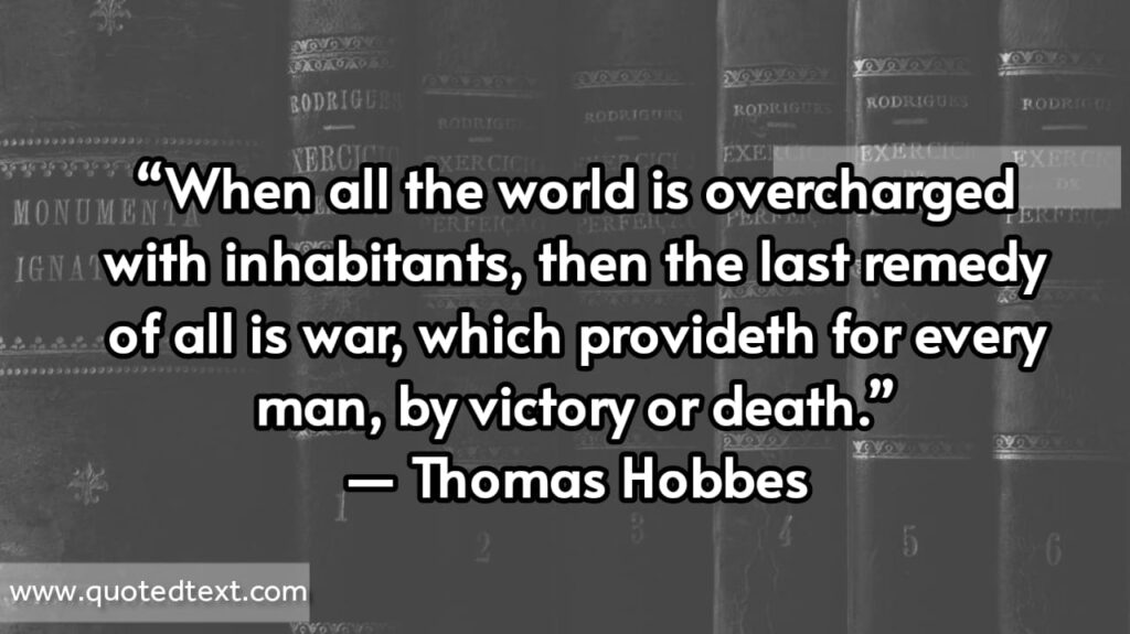 Thomas Hobbes quotes on victory and death