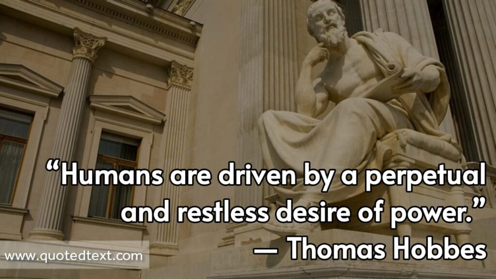 Thomas Hobbes quotes on desire