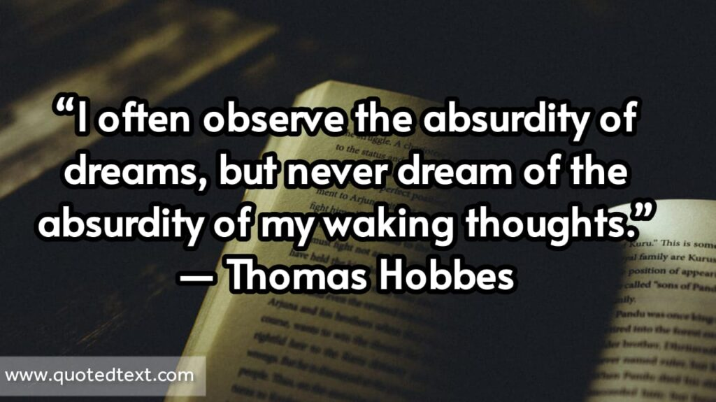 Thomas Hobbes quotes on dreams