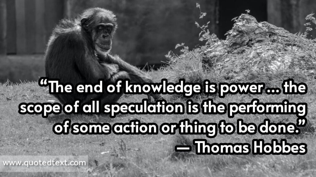 Thomas Hobbes quotes on Knowledge