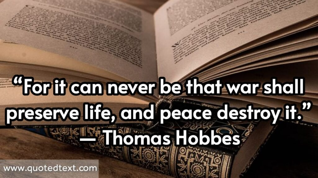 Thomas Hobbes quotes on peace