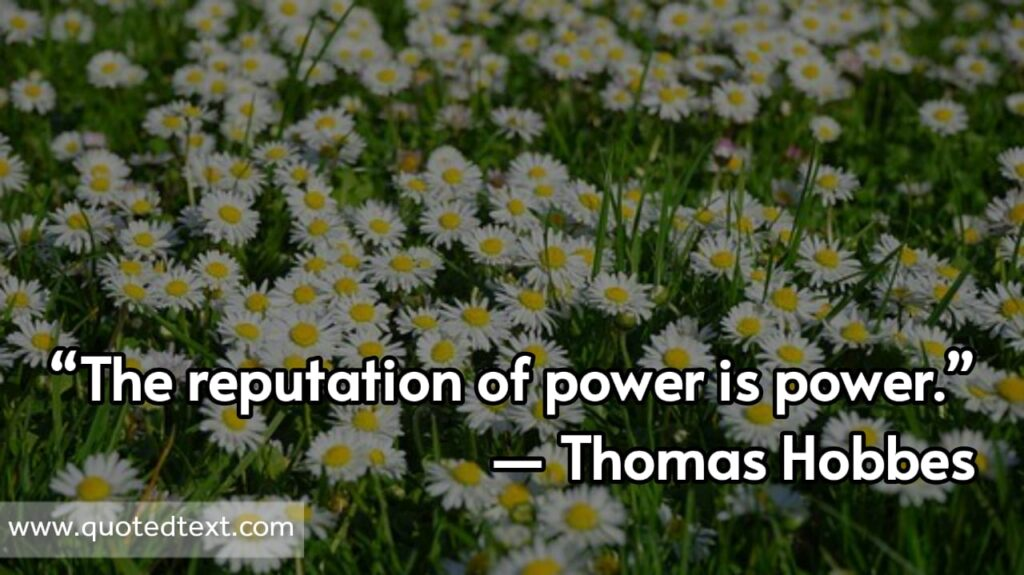 Thomas Hobbes quotes on power