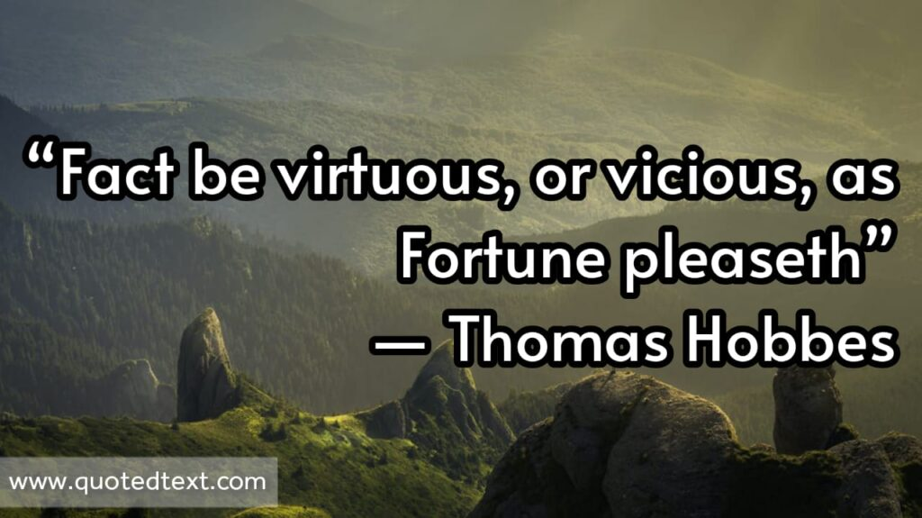 Thomas Hobbes quotes on virtue