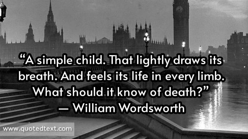William Wordsworth quotes on child