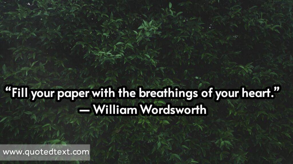 William Wordsworth quotes on heart