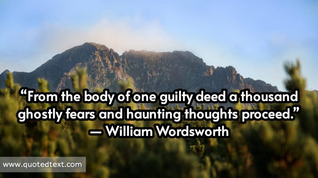 William Wordsworth quotes on fear