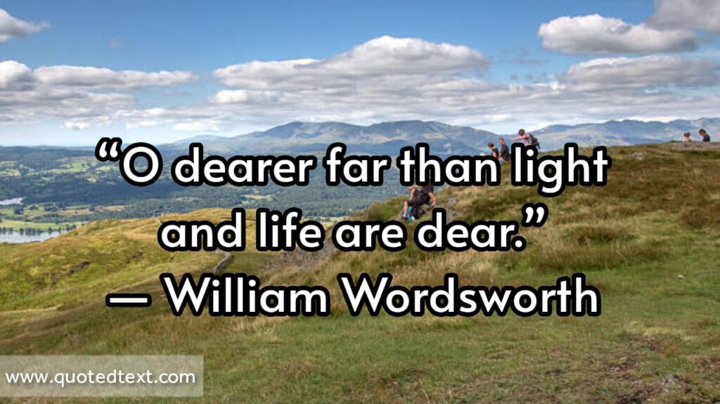 William Wordsworth quotes on living life