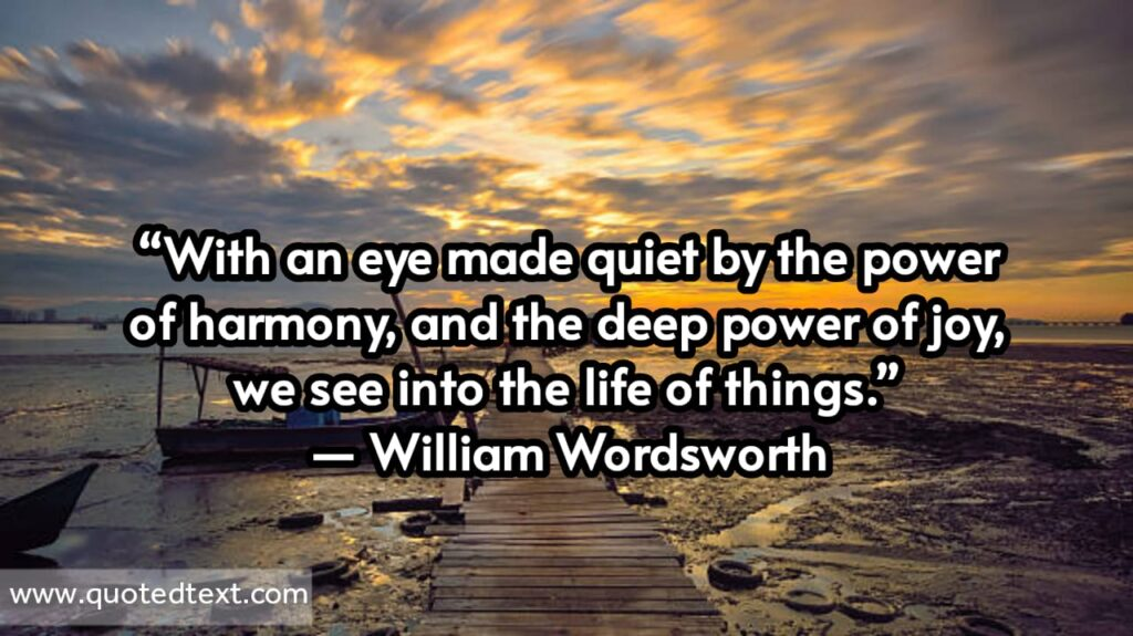 William Wordsworth quotes on power