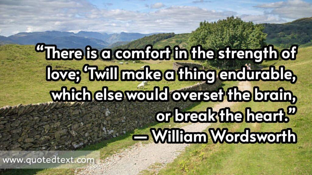 William Wordsworth quotes on love