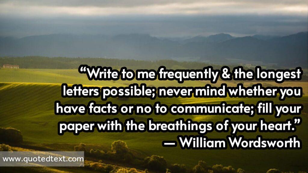 William Wordsworth quotes on writing