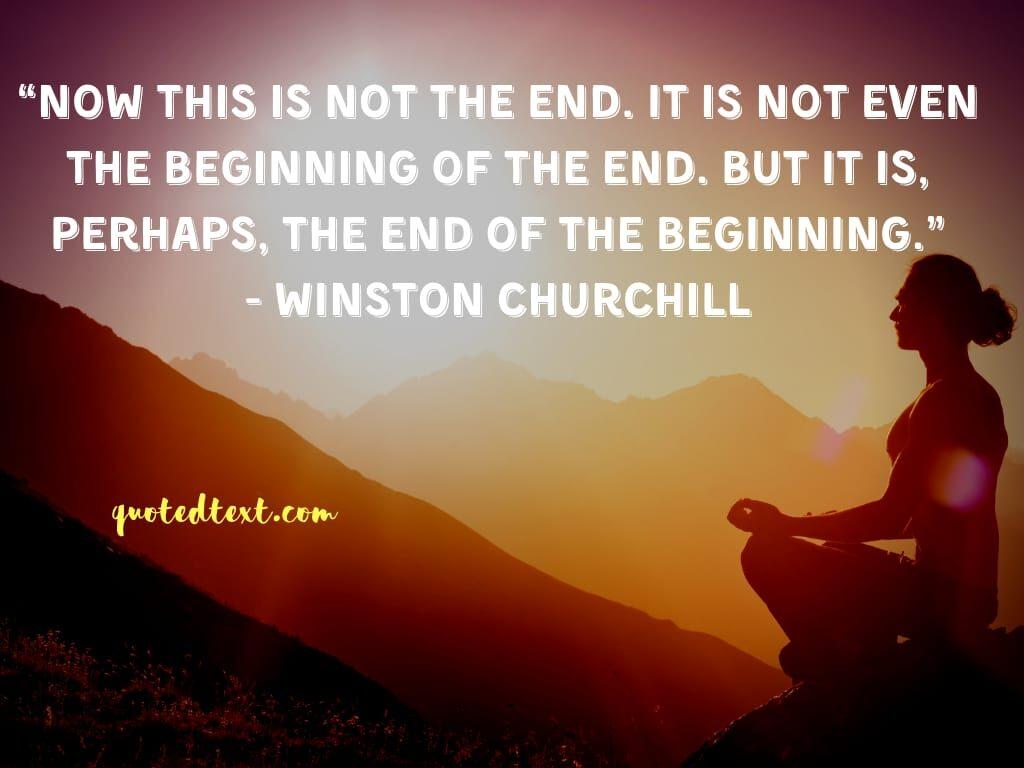 Winston Churchill quotes on beginning