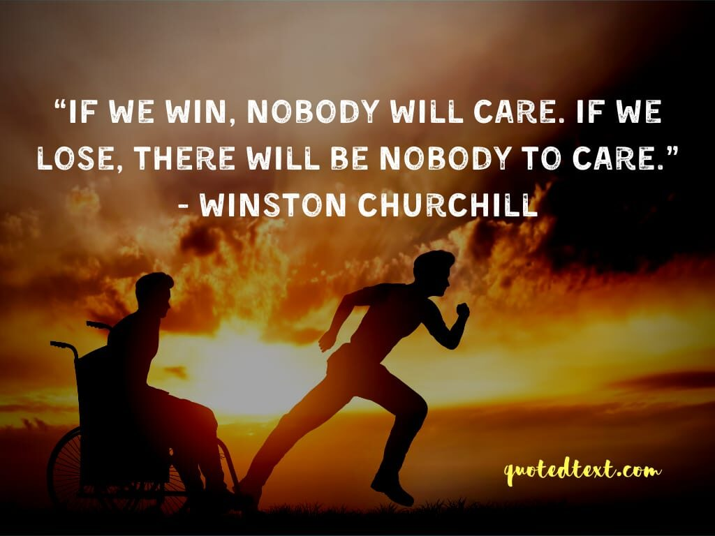 Winston Churchill quotes on care