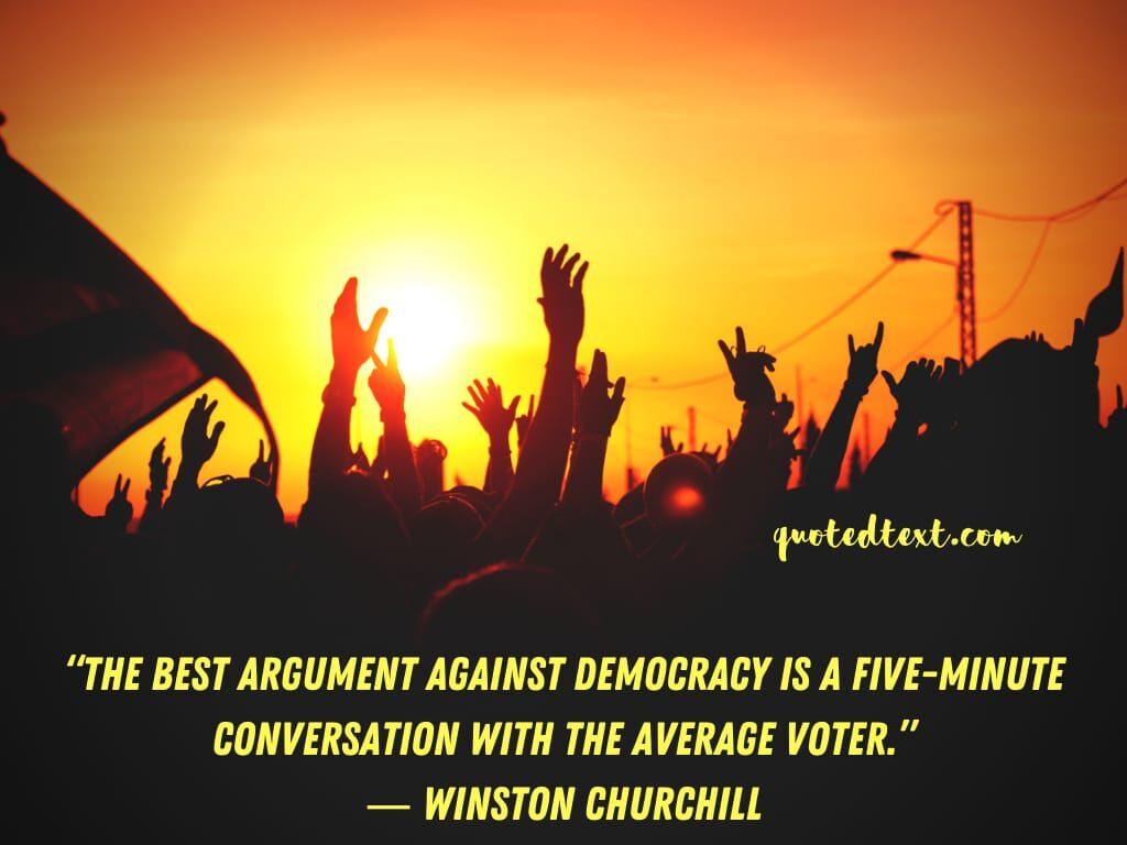 Winston Churchill quotes on democracy
