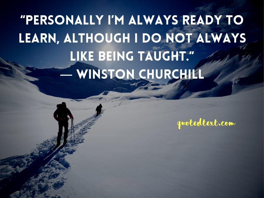Winston Churchill quotes on learning