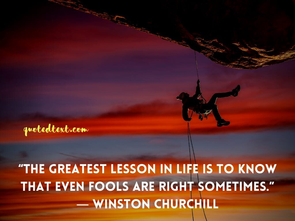 Winston Churchill quotes on life lesson