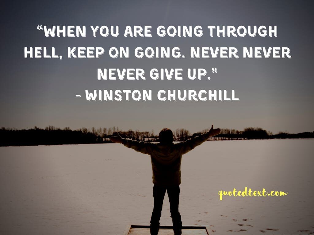 Winston Churchill quotes on never give up