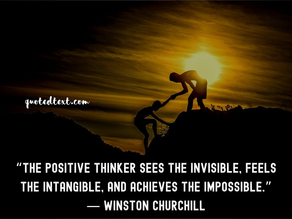 Winston Churchill quotes on positive thinking