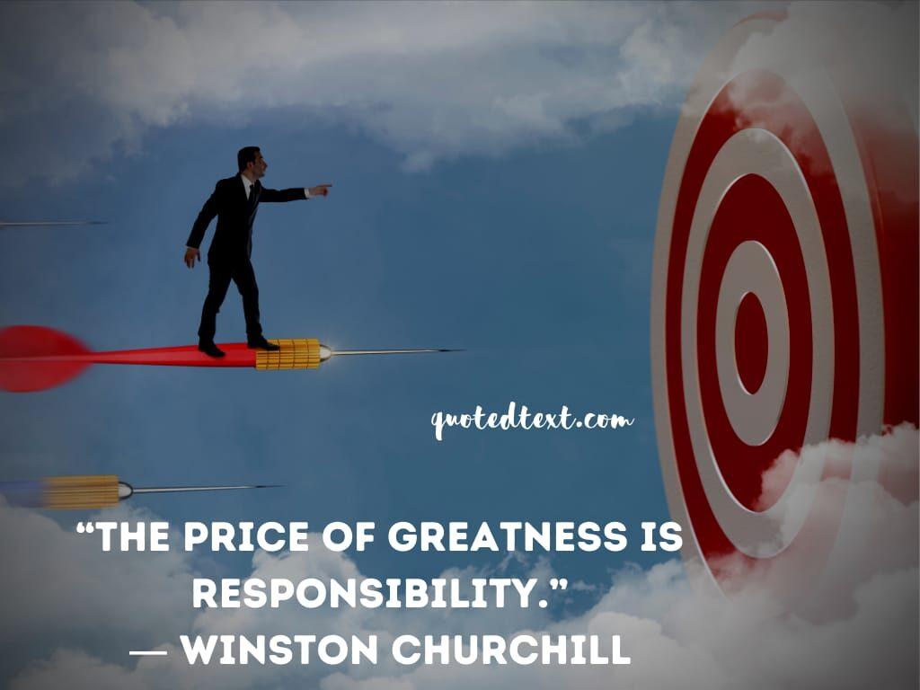 Winston Churchill quotes on responsibilty