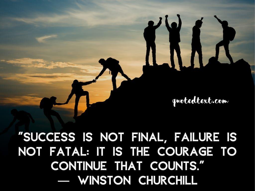 Winston Churchill quotes on success
