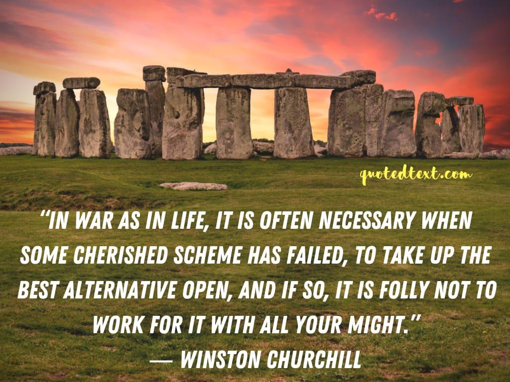 Winston Churchill quotes on war