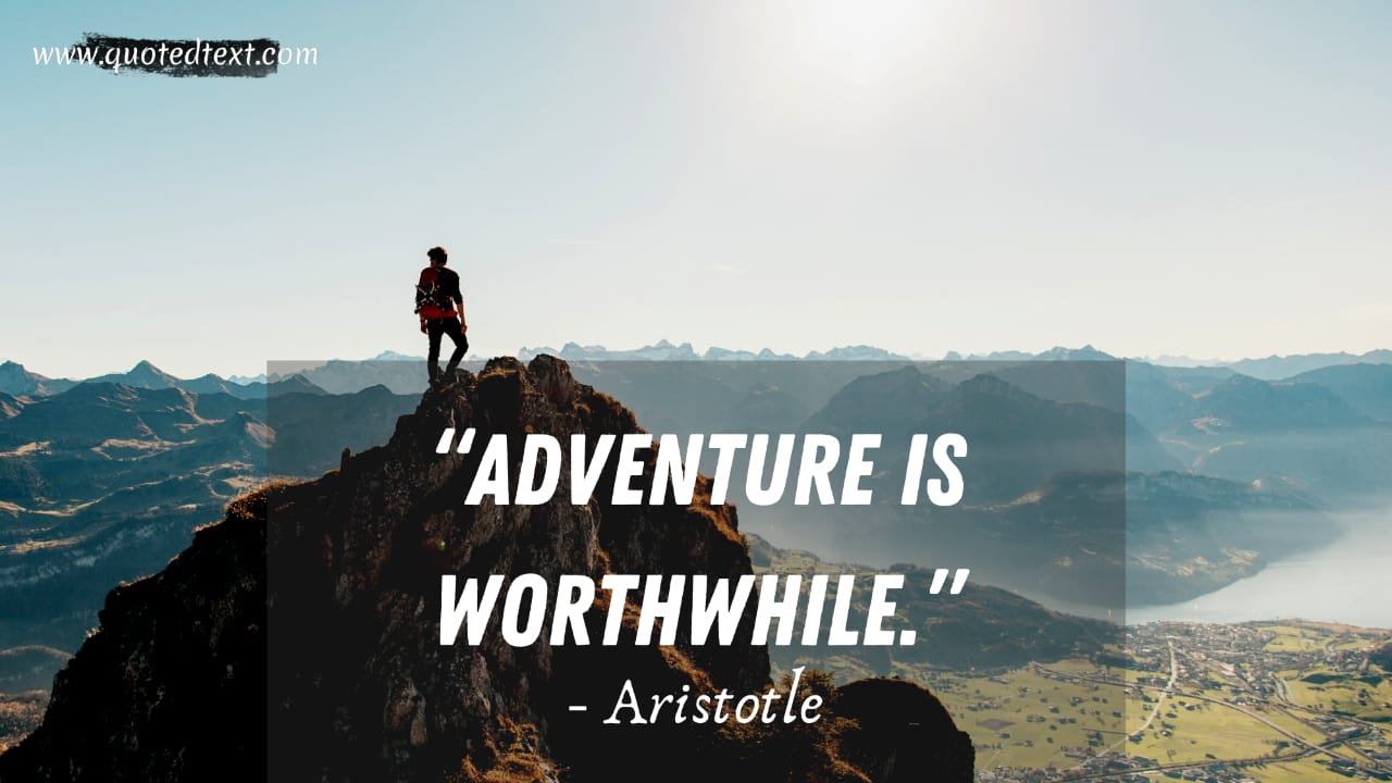 Aristotle quotes on adventure