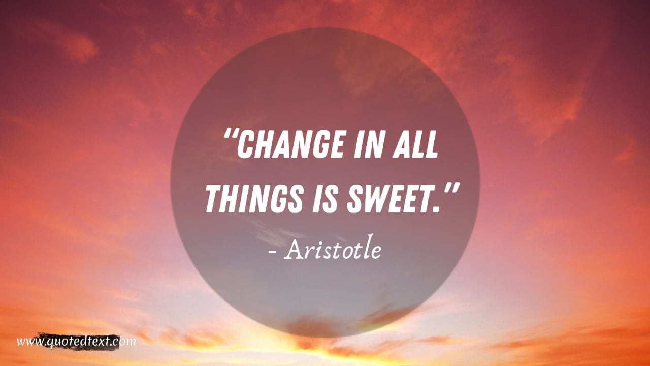 Aristotle quotes on change
