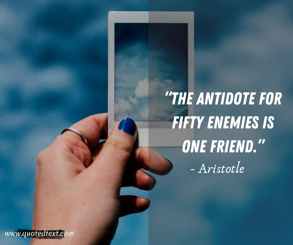 Aristotle quotes on best friend