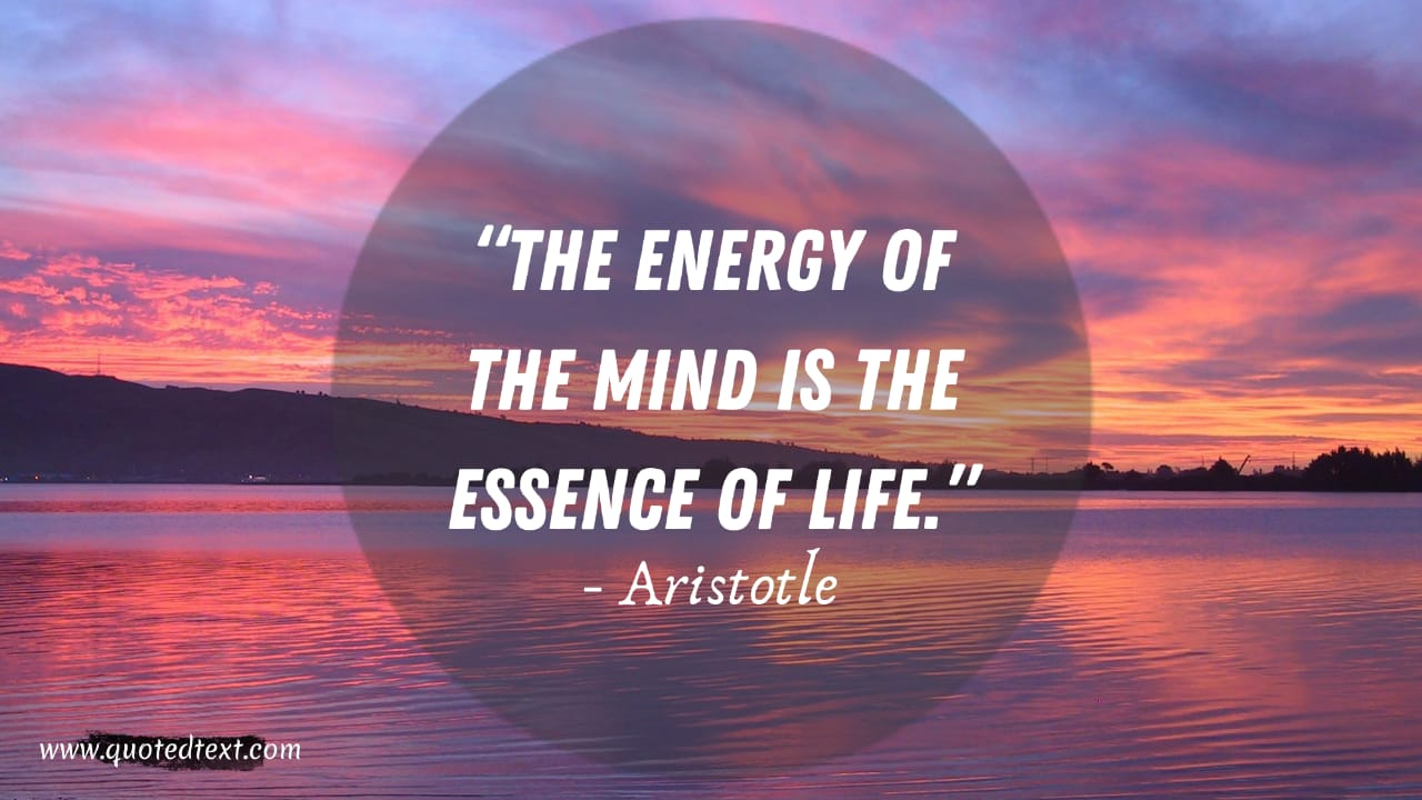 Aristotle quotes on mind