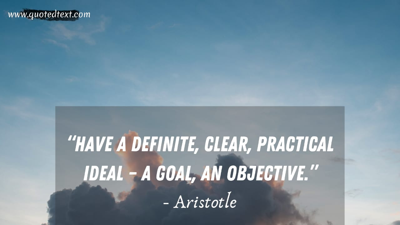 Aristotle quotes on goals