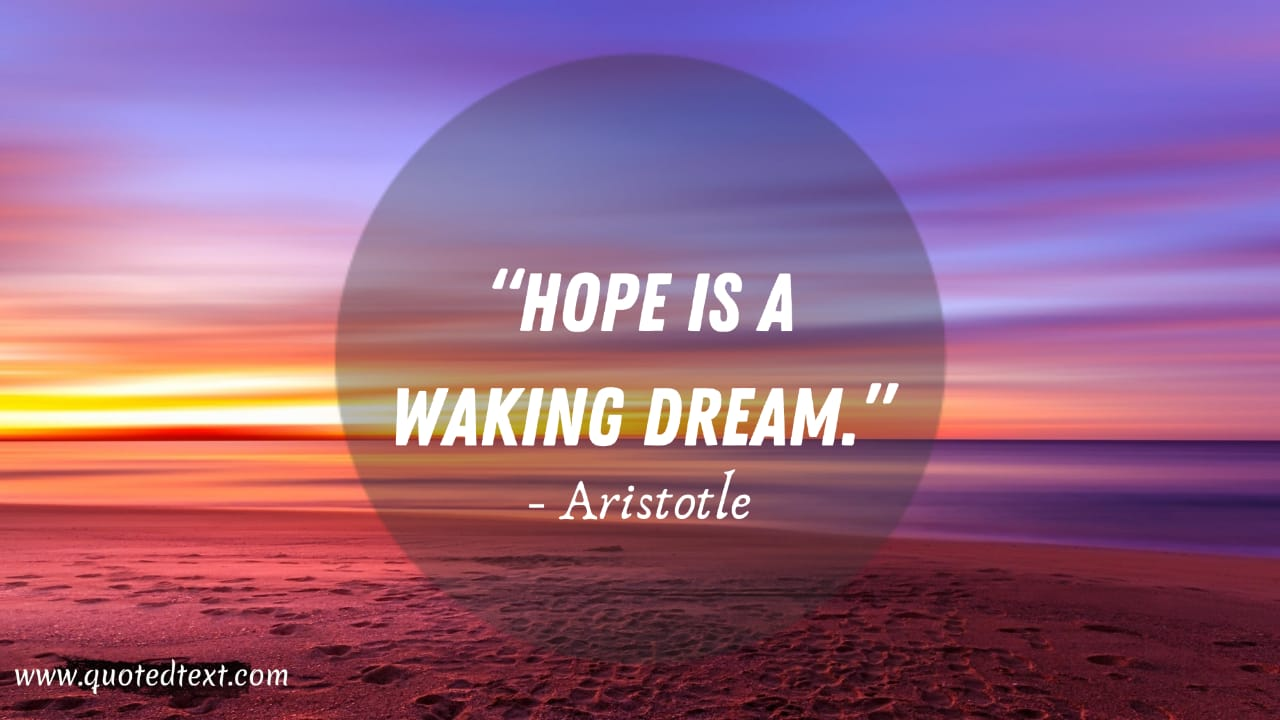 Aristotle quotes on hope