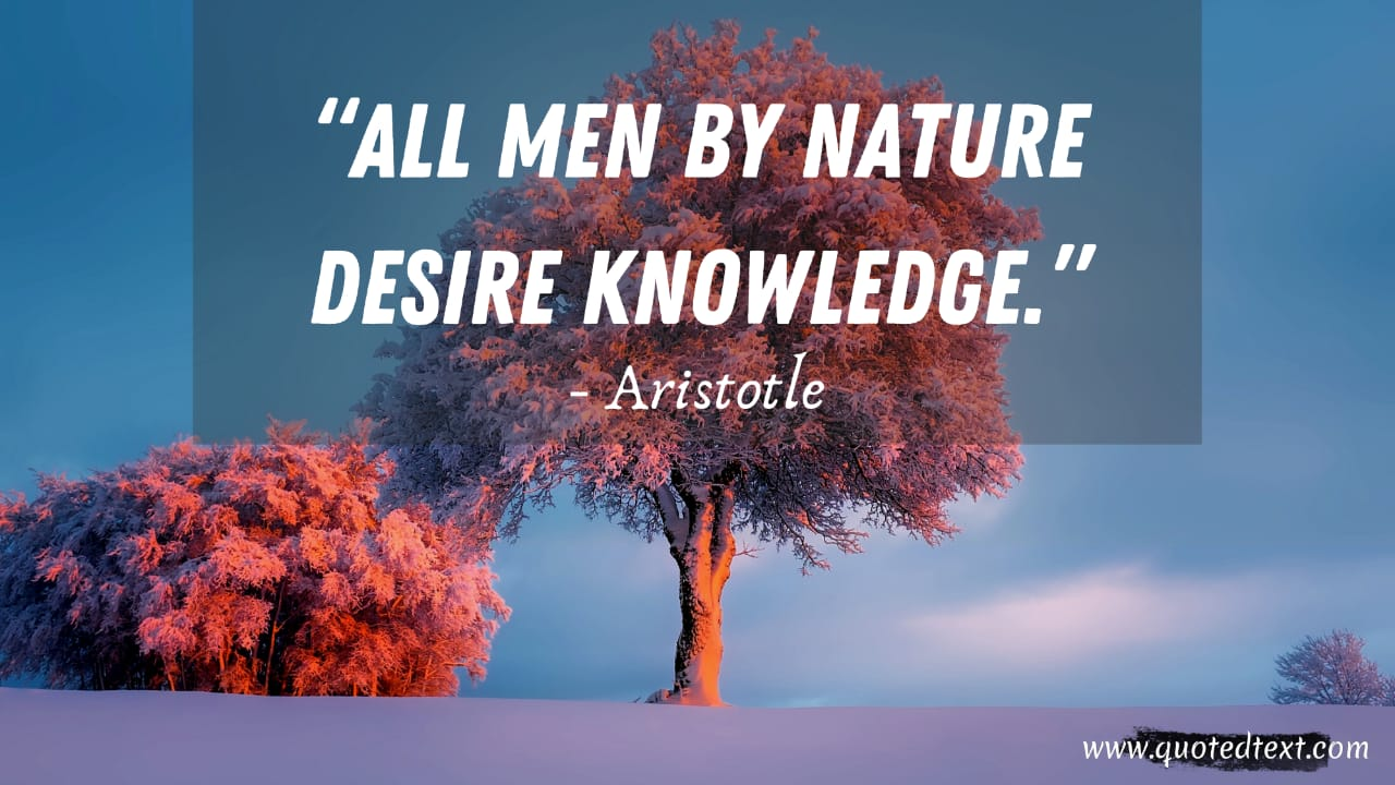 Aristotle quotes on knowledge