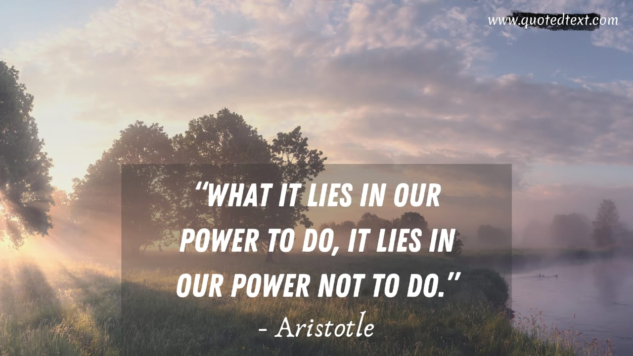 Aristotle quotes on power