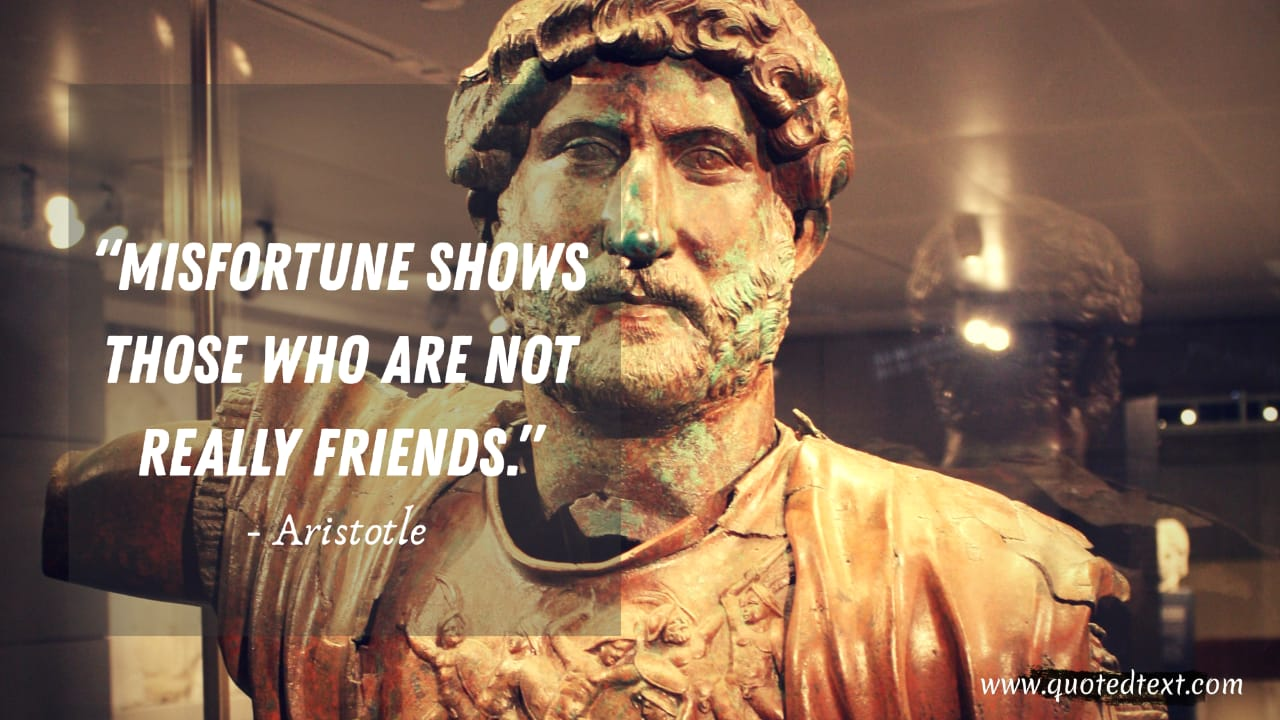 Aristotle quotes on misfortune