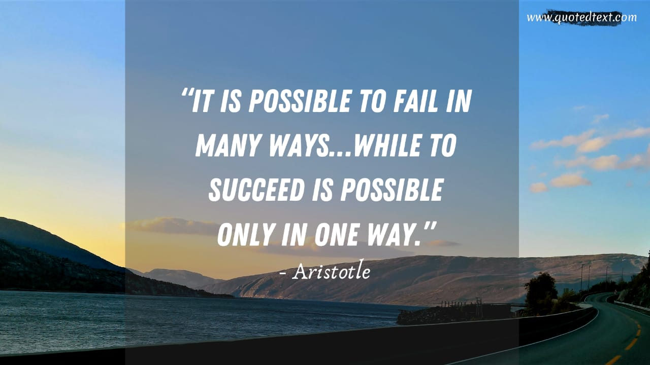 Aristotle quotes on success