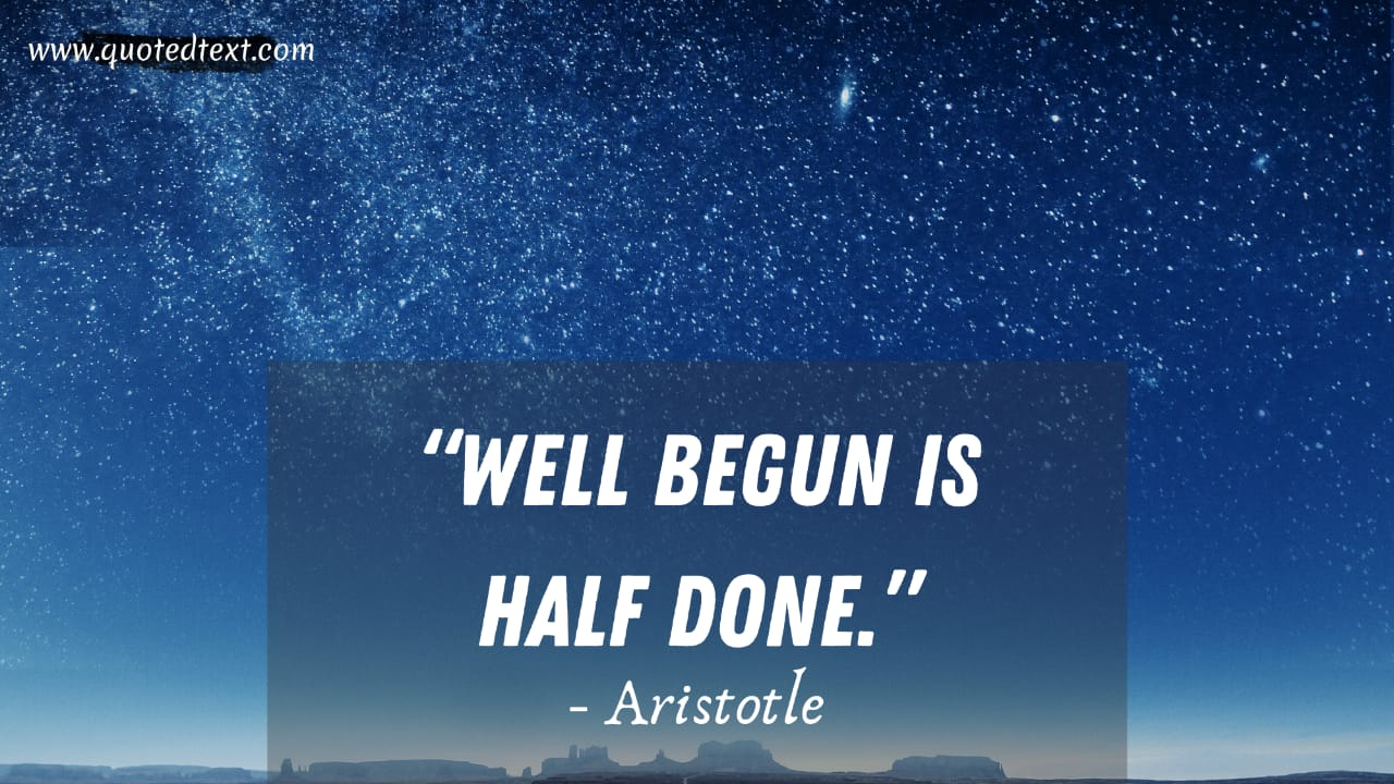 Aristotle quotes on beginning
