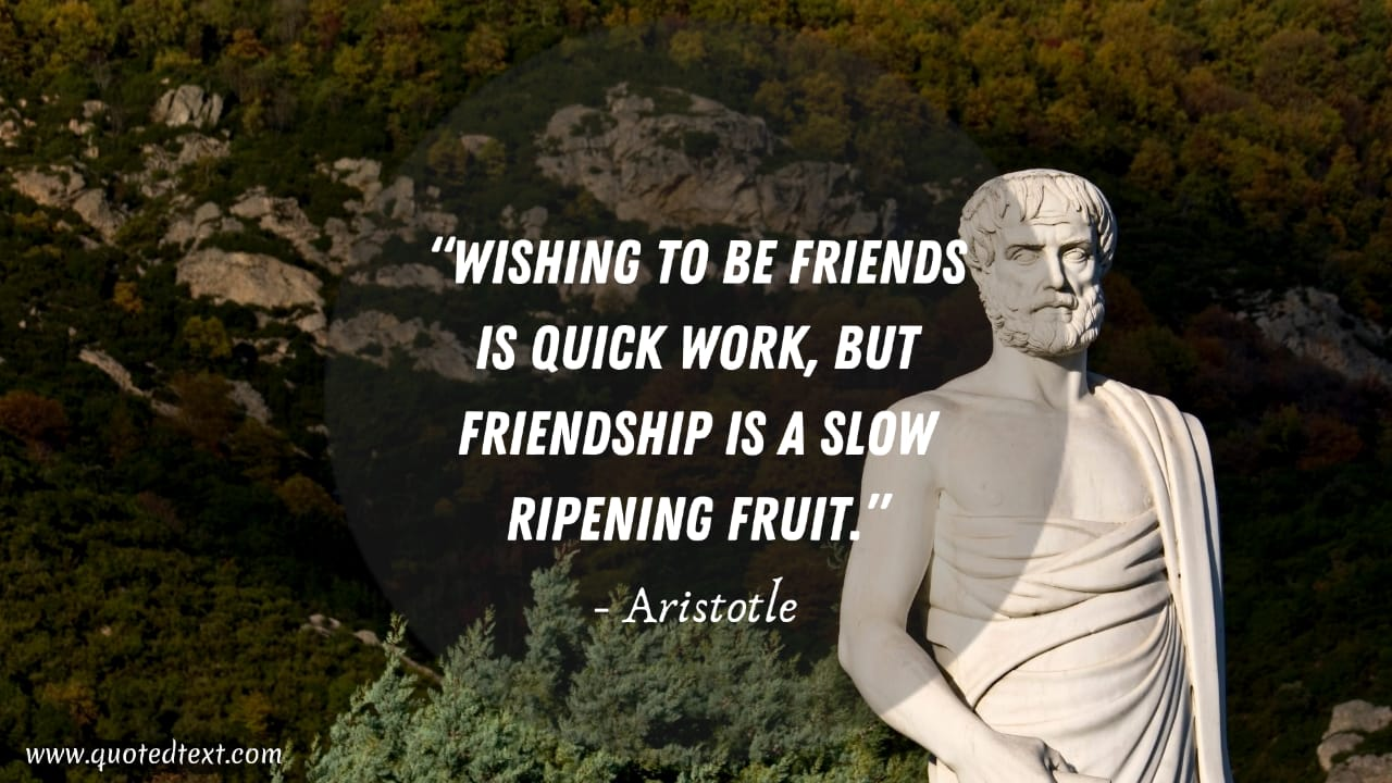 Aristotle quotes on friends