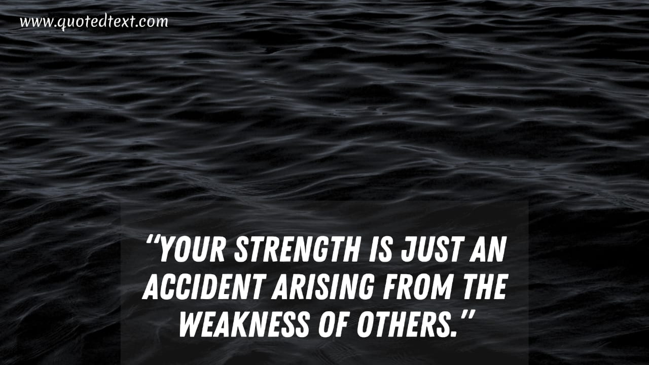 Heart of Darkness quotes on strength