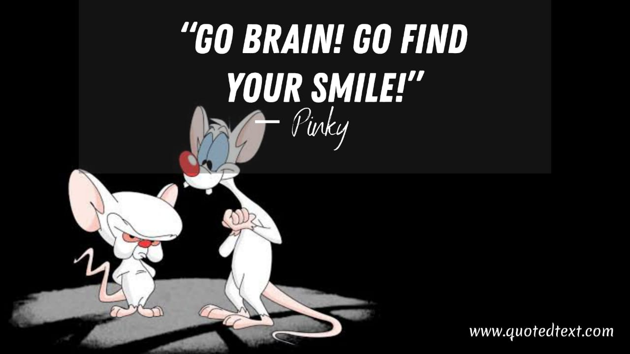 Pinky and the Brain quotes on always smile