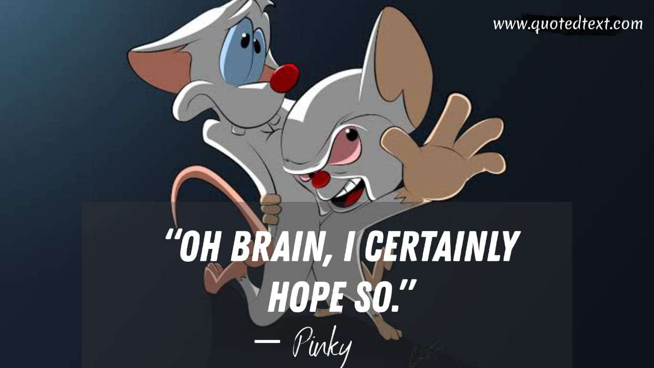 Pinky and the Brain quotes on hope