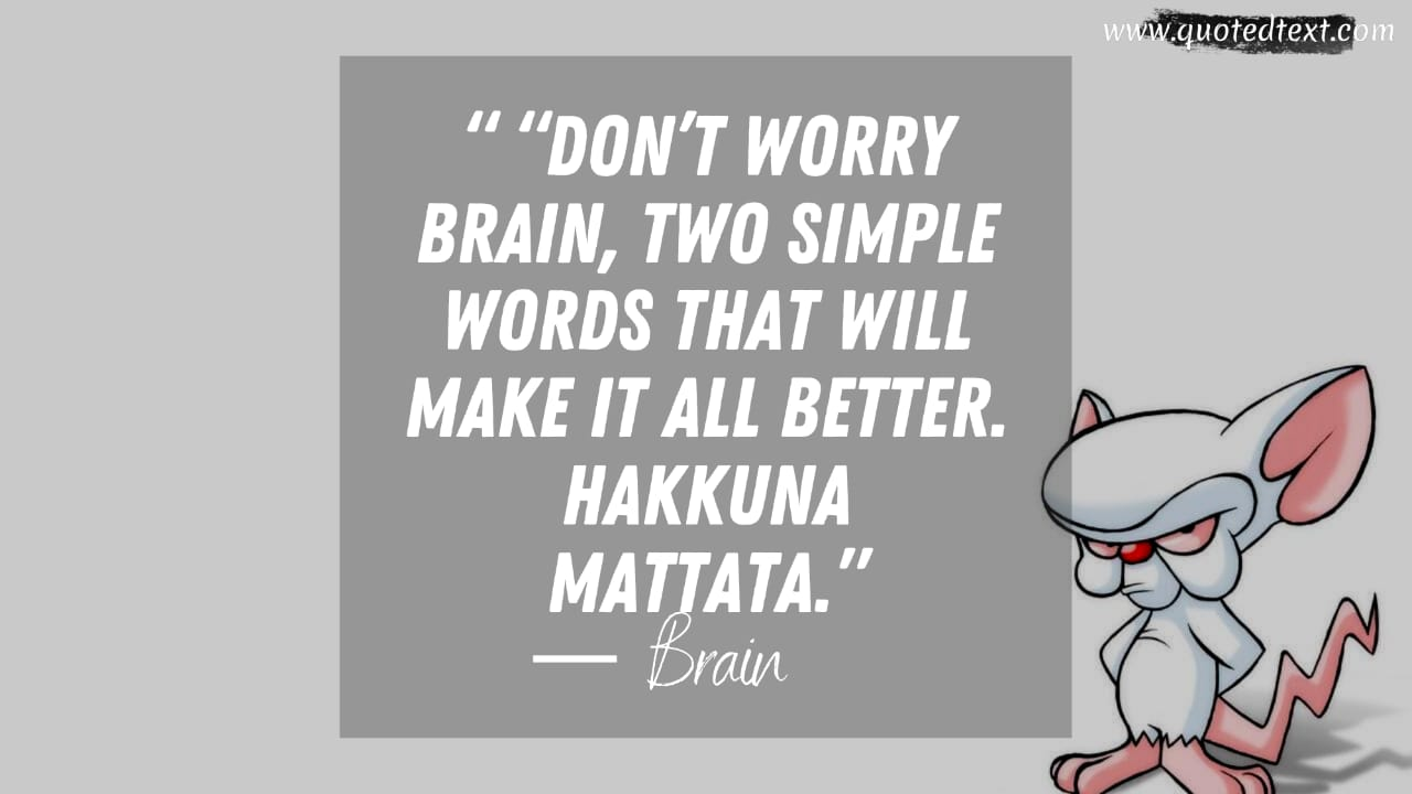 Pinky and the Brain quotes on stay positive