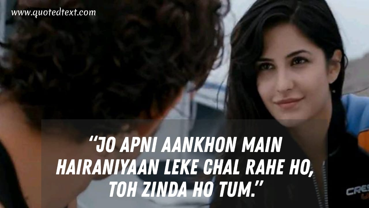 Zindagi na Milegi Dobara dialogues on dreams
