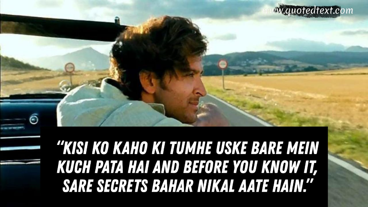 Zindagi na Milegi Dobara dialogues on peoples